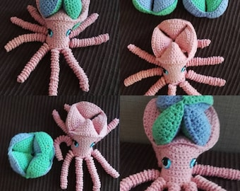 Octopus crocheted puzzle toy