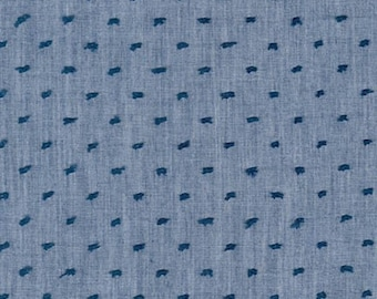 SRK-15577-67 DENIM from Swiss Dot Chambray from Robert Kaufman by the yard
