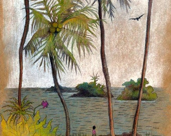 "Fijian Art Print, limited edition - ""After the Storm - Fiji"""