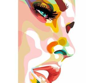 Paint by numbers kit MELANI LORAN 40 x 50 cm