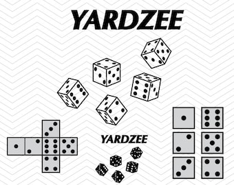 Yardzee with Dices frames and score sheet cards DXF SVG PNG eps vinyl for Cricut Design, Silhouette studio, Sure Cuts A Lot, Makes the Cut