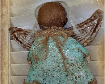 Primitive Angel Doll | Folk Art Angel | Christmas Angel | Christmas Doll | Christmas Decoration