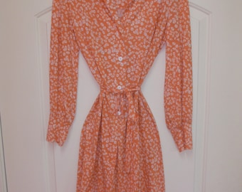 Harold Grant, Novelty Buttons Print Dress, Vintage 1960's, M/L