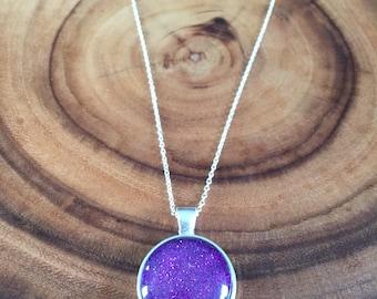 Mermaid Glitter Pendant Necklace