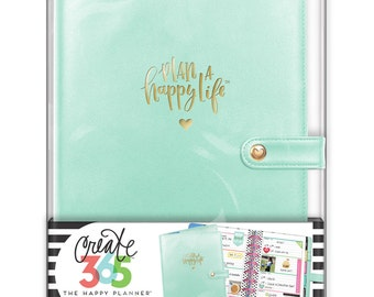 Create 365 The Mini Happy Planner Deluxe Cover, Mint / Planner Accessories / Planner Supplies / Me and My Big Ideas /