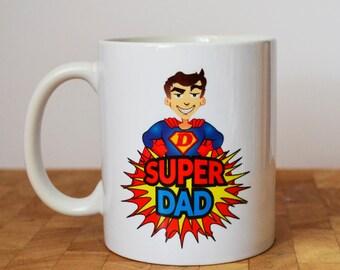 Superdad Mug, Dad mug, Gift For Dad, Fathers Day
