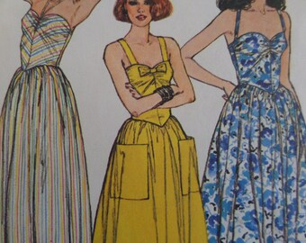 HALTER SUNDRESS Pattern • Simplicity 6942 • Miss 6-8 • Ruched Dress • Summer Dress • Seamstress Pattern • Womens Patterns • WhiletheCatNaps