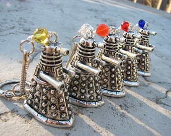 Doctor Who Dalek Keychain/Keyring Key Chain - Exterminate? Carburate!