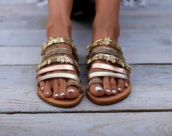 "Sandals, Leather sandals, Handcrafted Greek sandals, ""Demeter"" sandals"