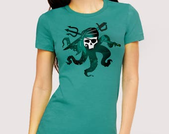 Octopus Skull T-shirt (kids and adult sizes)