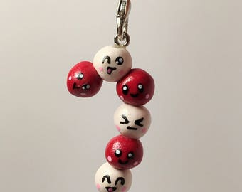 Festive Streptococcus pyogenes (strep throat) microbe ornament, jewelry, microbiologist / pathologist / scientist / medical student gift