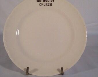 Methodist Church decor plate