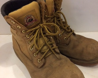 work boots distressed Brama waterproof size mens 10 1/2 vintage work boots