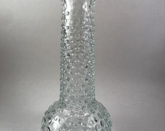 Vintage EO Brody Co M2000 clear glass hobnail vase