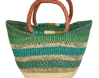 Ghana Bolga U Shopper Tote Basket