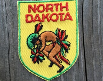 North Dakota Vintage Souvenir Travel Patch from Baxter Lane