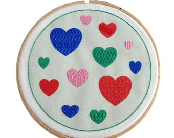 SALE Heart Embroidery Pattern | Easy Hand Embroidery | Embroidery DIY Hoop Art | Beginner Embroidery Kit | Hand Embroidery Pattern Green