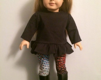 18-inch Doll Clothes - Tunic, Leggings & Boots - FREE U.S. SHIPPING