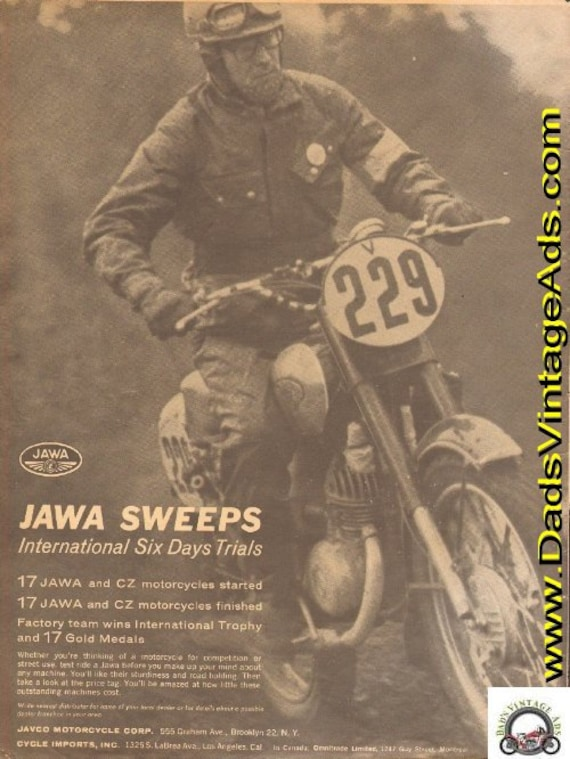 1963 Jawa Sweeps International Six Days Trials ISDT Ad #d63aa14