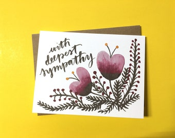 With Deepest Sympathy Painted Card