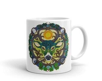 Green Stag Mug