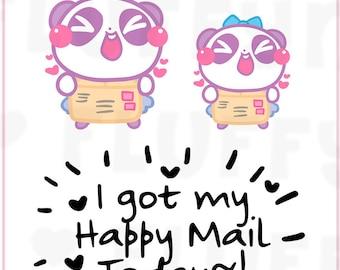 I've Got Mail Panda Mimi    Planner Stickers, Cute Stickers for Erin Condren (ECLP), Filofax, Kikki K, Etc.    MTP09