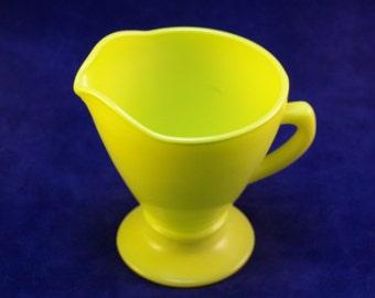 Vintage Glasses Hazel Atlas Ovide Yellow Sugar And Creamer Set - Unique Glassware