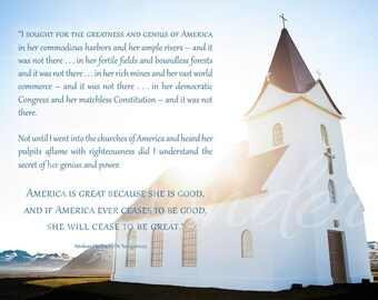 America Is Great Because She Is Good Fine Art Photograph