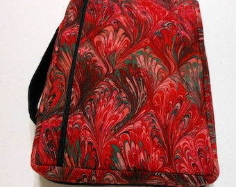 Bible Cover Red and Green Swirls Your Book Measurements Required