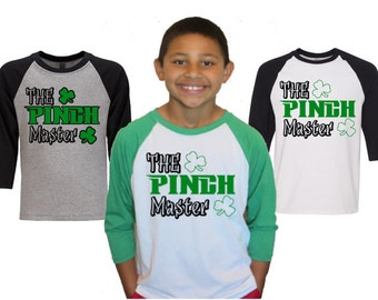 St. Patrick's Day Shirt The Pinch Master Shirt|Kids T-shirt|Monogram St. Patrick's Day Shirt