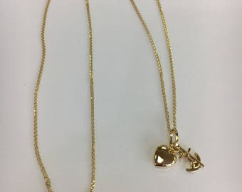 14k yellow gold solid gold necklace pendant