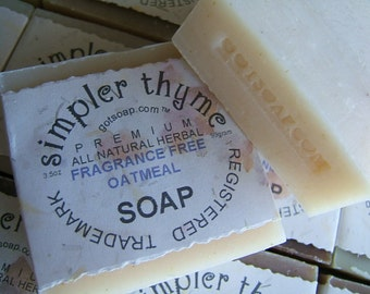 fragrance free unscented oatmeal cold processed soap