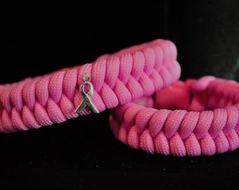 Breast Cancer Awareness Handmade Paracord Bracelet