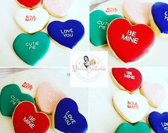 Valentine's Day conversation hearts Cookies