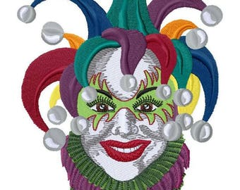 Jester Embroidered on Hand Towel or Tea Towel