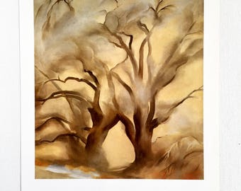 Georgia O'Keeffe / Winter Cottonwoods East / 1954 / Art / Book Page Print / Published 1990's