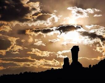 Sunset at Chimney Rock