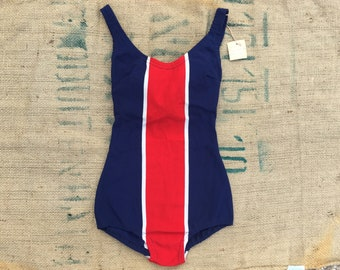 60s Deadstock vintage one piece Aries swimwear made in france size Small