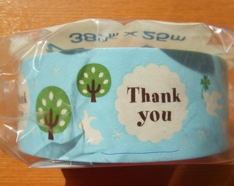 FOREST Animals Design Japanese THANK YOU Tape