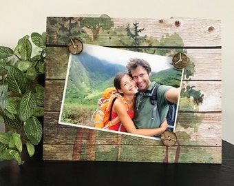 Into The Woods - The Great Outdoors Handmade Gift Present Home Decor Magnetic Picture Frame Size 9 x 11 Holds 5 x 7 Photo - Hiking Parks