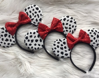 Dalmation Mouse Ears