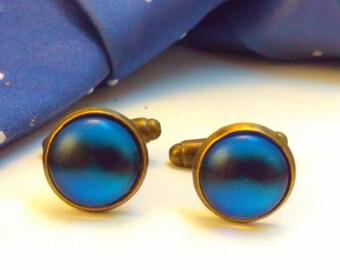 Handmade BLUE cufflinks, cufflinks, moustache cufflinks, wedding cufflinks, bridegroom, moustaches, handmade cufflinks, steampunk cufflinks