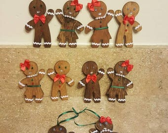Gingerbread wooden people