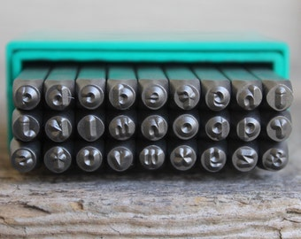 Cinnamon Cake Font Lowercase Metal Stamp Set-3mm-Metal Alphabet Set-Metal Supply Chick-Steel Stamps for Metal-Can be used on Stainless