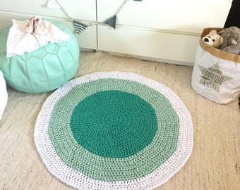 Mint Round Rug, Teepee Knit Rug, Baby Play Mat, Nursery Rug, Kids Playmate, Modern Kids Room Decor, Baby Rug, Tipi Rug Mat, Baby Shower Gift
