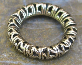 Filigree Ring 17mm Antique gold Jewelry finding 576 - 6 pieces