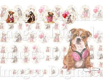 Digital printable images celebrating dogs.
