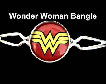 Wonder Woman bangle bracelet,wonder woman,bangle bracelet,bracelet,jewelry,necklaces,earrings,wonder woman,gifts,birthday,theme,charms