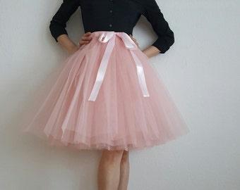 Tulle petticoat Old rose skirt 55 cm