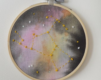 Orion Constellation Hand Painted Embroidery